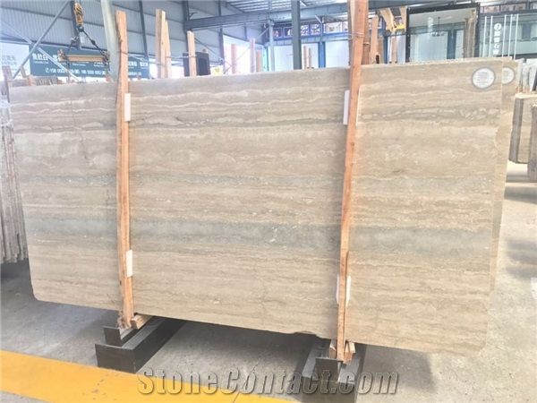 Italian Natural Stone PolishedFilled Ocean Blue Travertine Floor - Blue travertine natural stone tiles