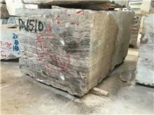 Tajrish Travertine Blocks, Dark Silver Gray Travertine Raw Blocks