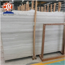 White Wooden Marble Floor and Wall Tile Grain Vein
