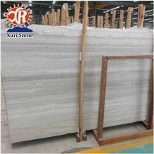 White Wooden Marble Floor and Wall Tile Grain Vein