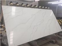 Calacatta White Quartz Slabs, Tiles for Countertops