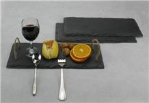Black Slate Food Plate Slate Cheese Board