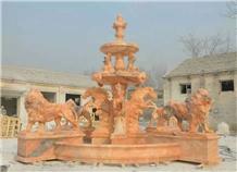 Handcarved Marble Outdoor Garden Water Fountain