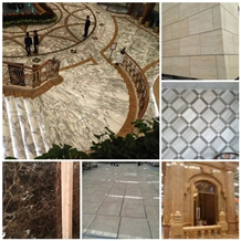 Arabescato Marble Tile,White Marble,Project Tiles