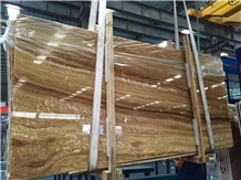 Classic Wood Marble Slab,Gold Yellow Wood Marble