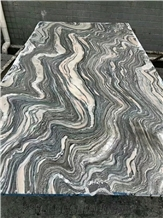 Cloud Wave Marble Slab,Green Seawave Marble Tile