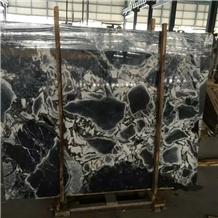 Royal Blue Marble Slab,Cloud Blue Black Marble