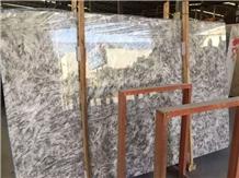 Translucent Ice Grey White Marble Slab and Tile