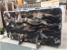 Venice Gold Marble Slab,Seawave Black Marble Tile