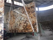 Brazil Gold Granite Big Slab, Granite Polished