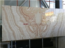 Book Matched Beige Marble Stone Slab