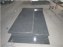 Snow Black Granite Tombstone Monuments Gravestone