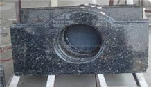 Blue Pearl Bathroom Vanity Top with Sinkhole Cut