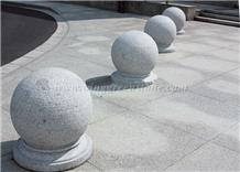 Light Grey Granite Parking Stone, Road Bollard