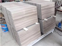 Athens Grey Wood Marble Slabs Floor Tiles 60x30