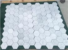 Bianco Carrara White Marble Hexagon Mosaic