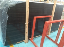 Black Sandal Wood Marble, China Black Marble