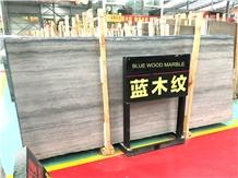 Blue Wood Grain Serpeggiante Marble Slabs & Tiles