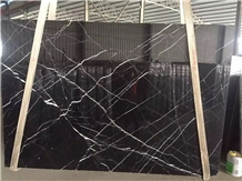 Building Material Nero Marquina Black Marble Slab