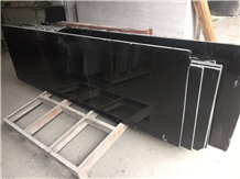 China Absolute Black Granite Slabs & Tiles