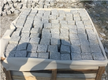 Light Grey Granite Paving Stone Tiles Cubic Stone