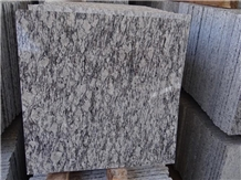 Spray White Granite Small Slabs Cut to Size Tiles