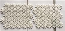 White Carrara Marble Mosaic, Mosaic Art