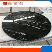 Silver Dragon Marble Round Top