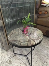 Rain Forest Green Indian Marble Table Top