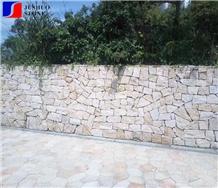 China Cheap Irregular Granite Cobble Pavers Walls