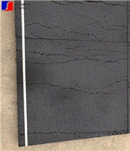 Honed Hainan Quarry Black Lava Honed Tile Wallings