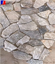 Mixed Color Irregular Shape Granite Cubes Walling