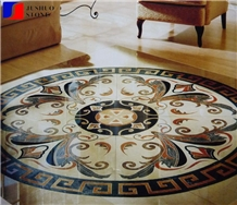 Round Polished Marble Medallions Stone for Sale