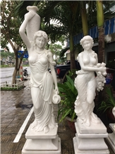 Woman Marble Statues, Handcarved Woman Statue