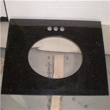 Absolute Black Galaxy Granite Kitchen Countertops
