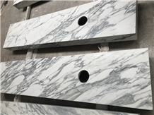 Arabescato White Marble Bathroom Vanity Tops