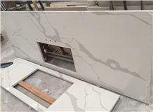 Artificial Stone White Quartz Kitchen Countertops