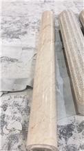 Beige Color Ionic Columns Crema Eva Marble Column