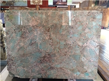 Brazil Amazonita Green Granite Slabs