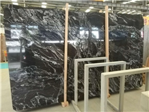 Brazil Luxury Stone Cosmo Black Granite Slabs