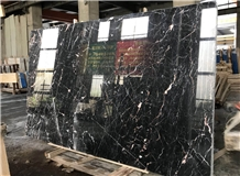 China Black Marble Azalea Red Marble Slab Tiles