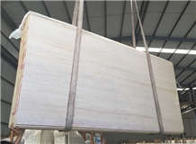 Chinese Fossil Wood Light Marble Slab Wall Tiles
