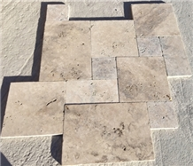 Classic Light Color Travertine Tile French Pattern