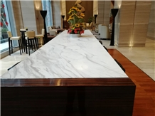 Commercial Register Volakas White Marble Desk Top