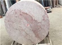 Cream Rose Round Marble Table Top