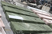Dandong Green Marble Prefab Bathroom Countertops