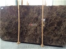 Dark Emperador Marble Slabs Interior Wall Tile