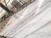 Diagonal Vein Volakas White Marble Tiles and Slabs