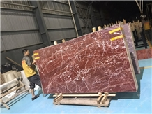 French Red Dragon Marble Slab Tile