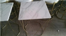 Guangxi White Marble Square Club Bar Counter Top